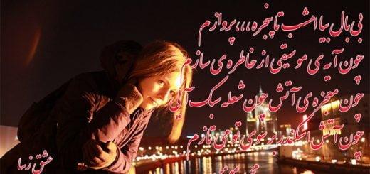 شعر زیبای بی بال بیا امشب مجید مومن