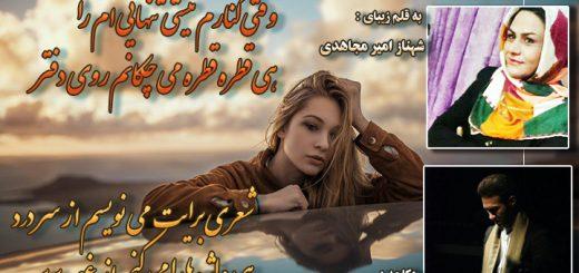 ای عشق برگرد از شهناز امیر مجاهدی دکلمه محمد حسین