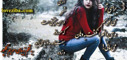 شعر برای تو می نویسم از مریم گلپور