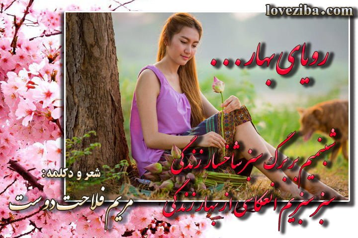 رویای بهار شعر و دکلمه از مریم فلاحت دوست