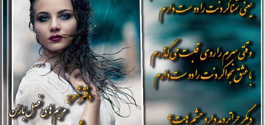 دفتر شعر مریم های فصل باران شاعر مریم سادات مقدم