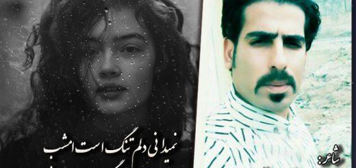 دلم تنگ است امشب شاعر جواد رستم خانی ( جاوید )