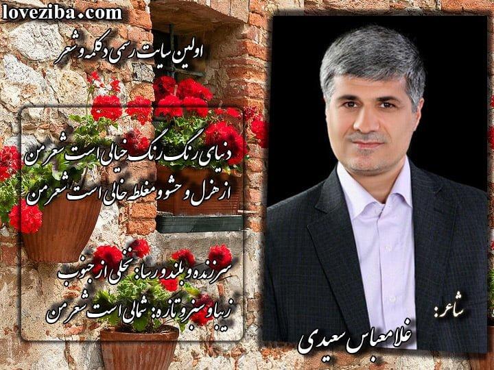 شعر من شاعر غلامعباس سعیدی