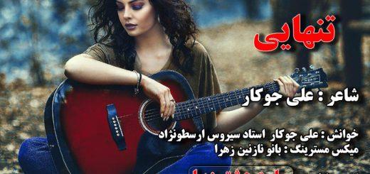 تنهایی شاعر علی جوکار خوانش دکلمه علی جوکار سیروس ارسطونژاد